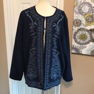 NWOT Susan Graver embroidered jacket size 2X 💙